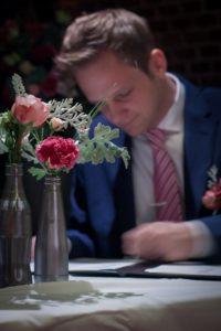 Tafeldecoratie bruiloft roze IJsselstein
