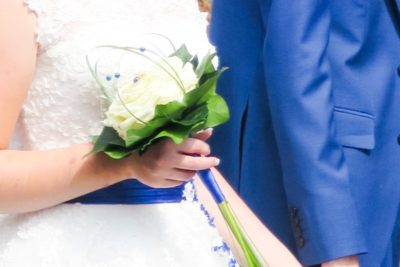 bruidsboeket single flower Wit