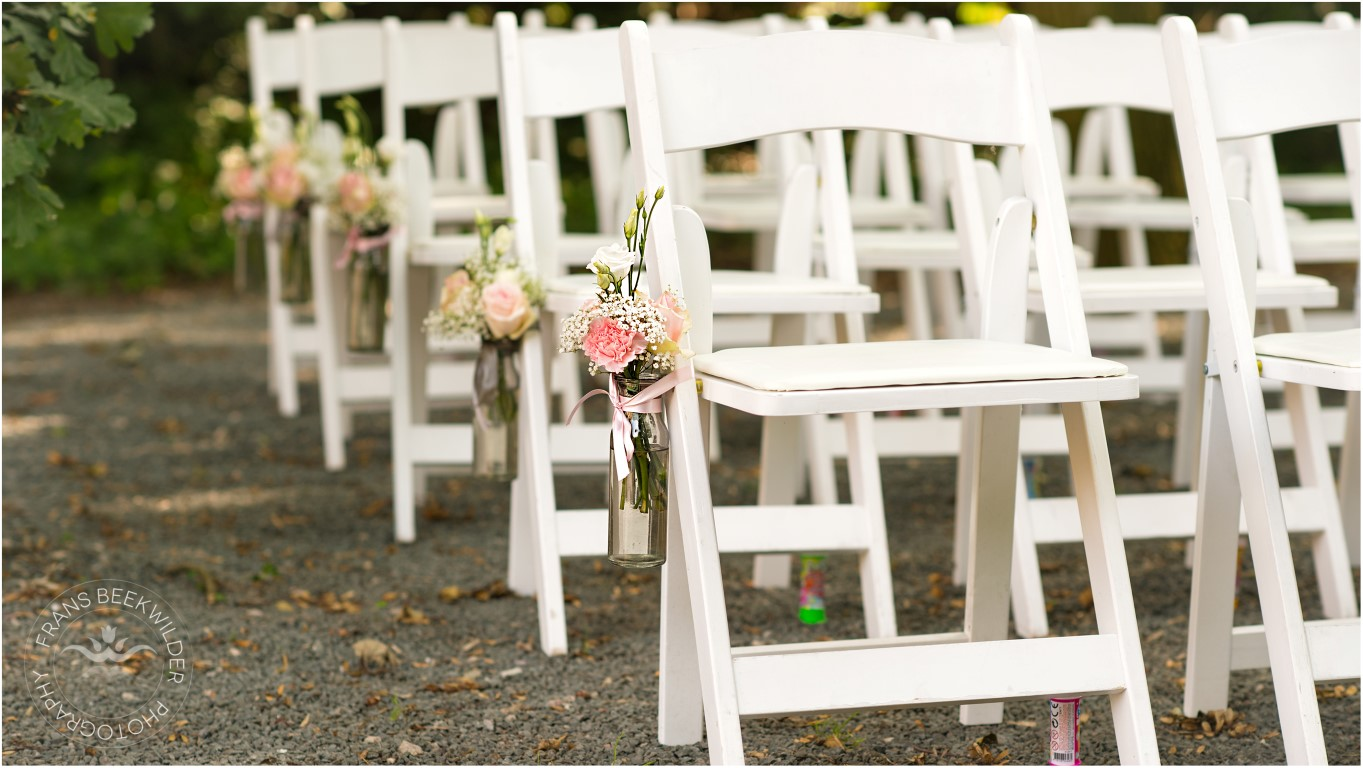 bruidsdecoratie rozen wit