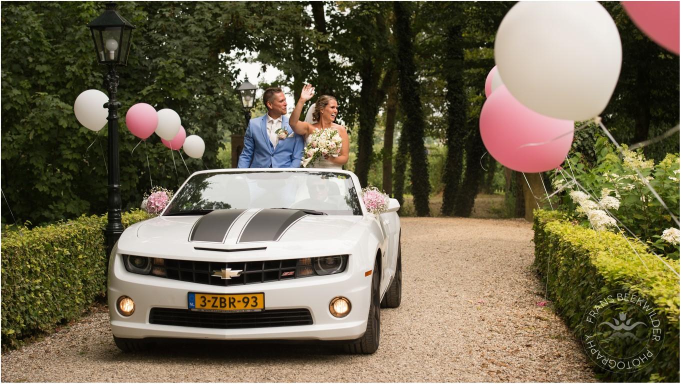 decoratie auto bruiloft IJsselstein