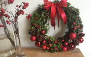 traditionele kerstkrans rood IJsselstein